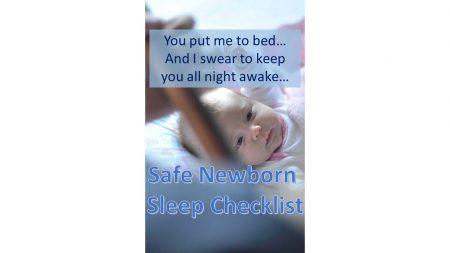 safe newborn sleep checklist image